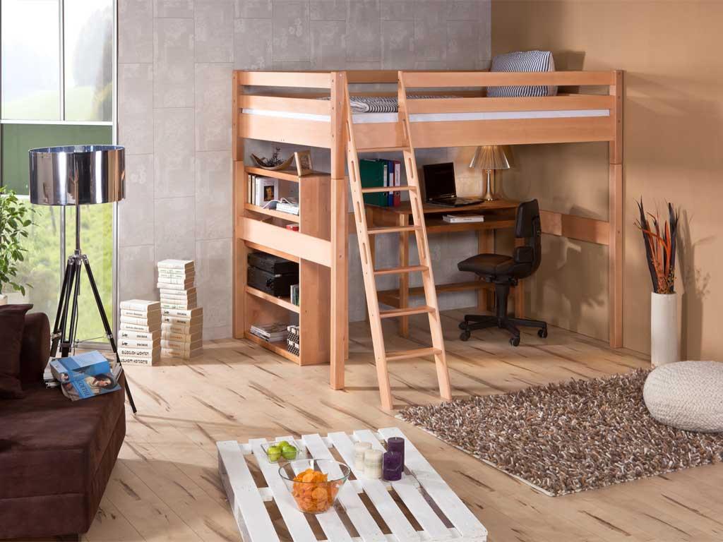 Łóżko bukowe antresola Wendy 71 140x200