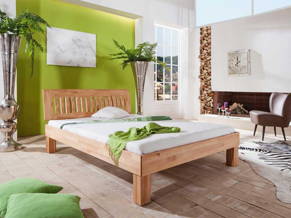 Łóżko z drewna bukowego Cleo 140