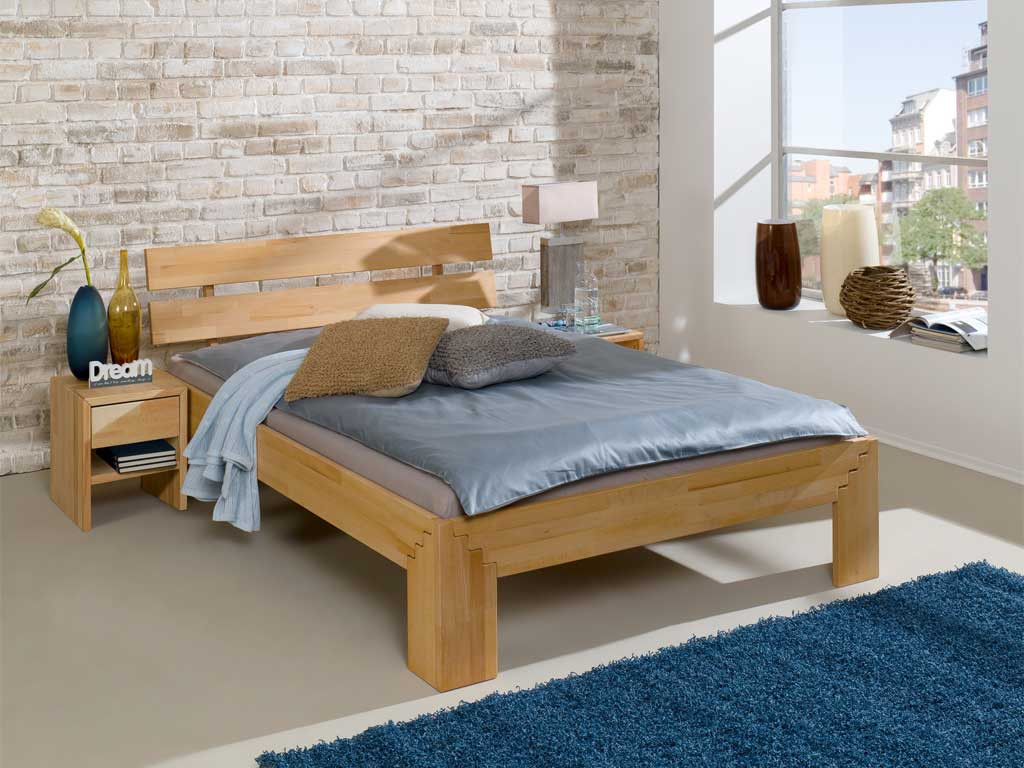 Łóżko z drewna bukowego Cleo IV 140