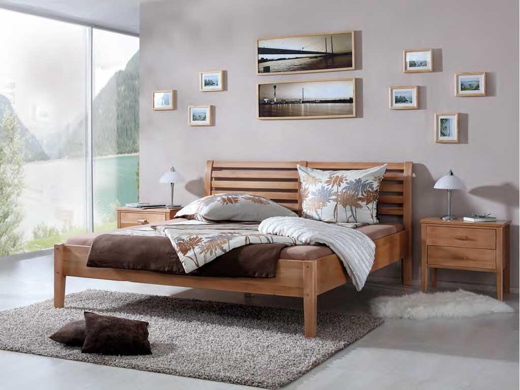 Łóżko z drewna bukowego Nina 140