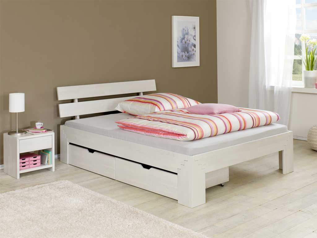 Łóżko z drewna dębowego Cleo IV 140