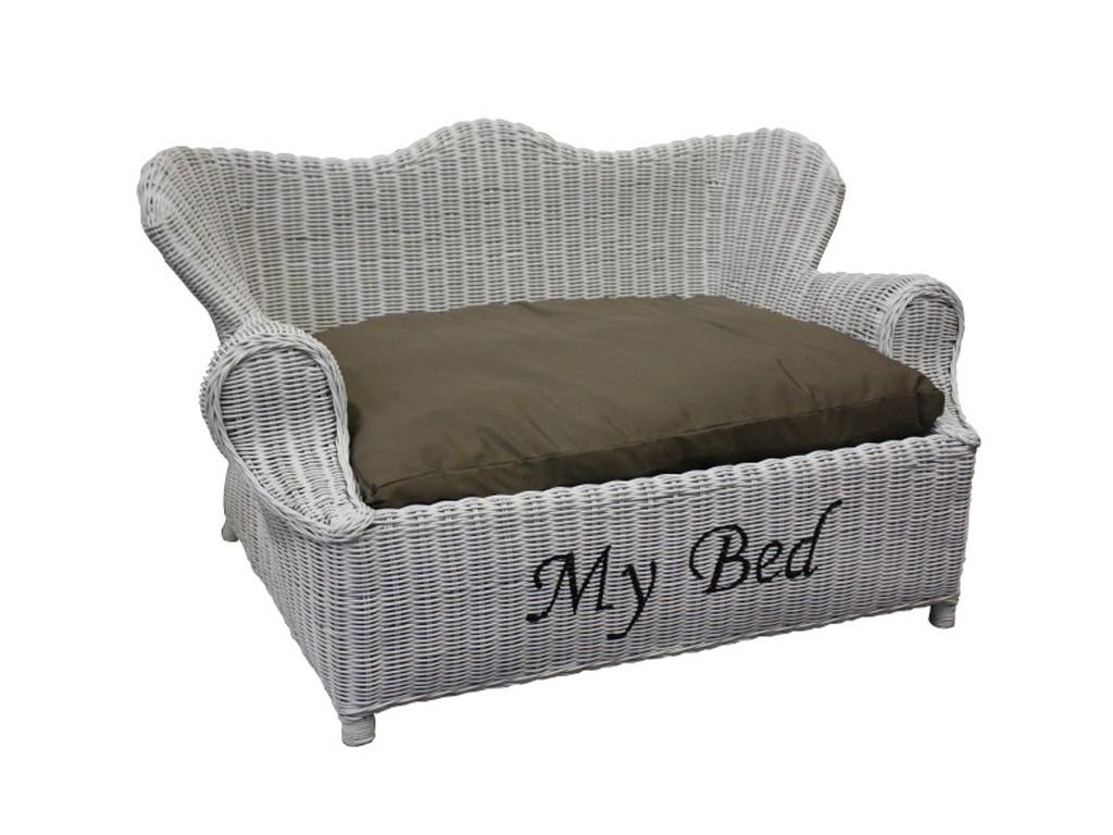 łóżko Dla Psa Z Rattanu Rattan Home 1