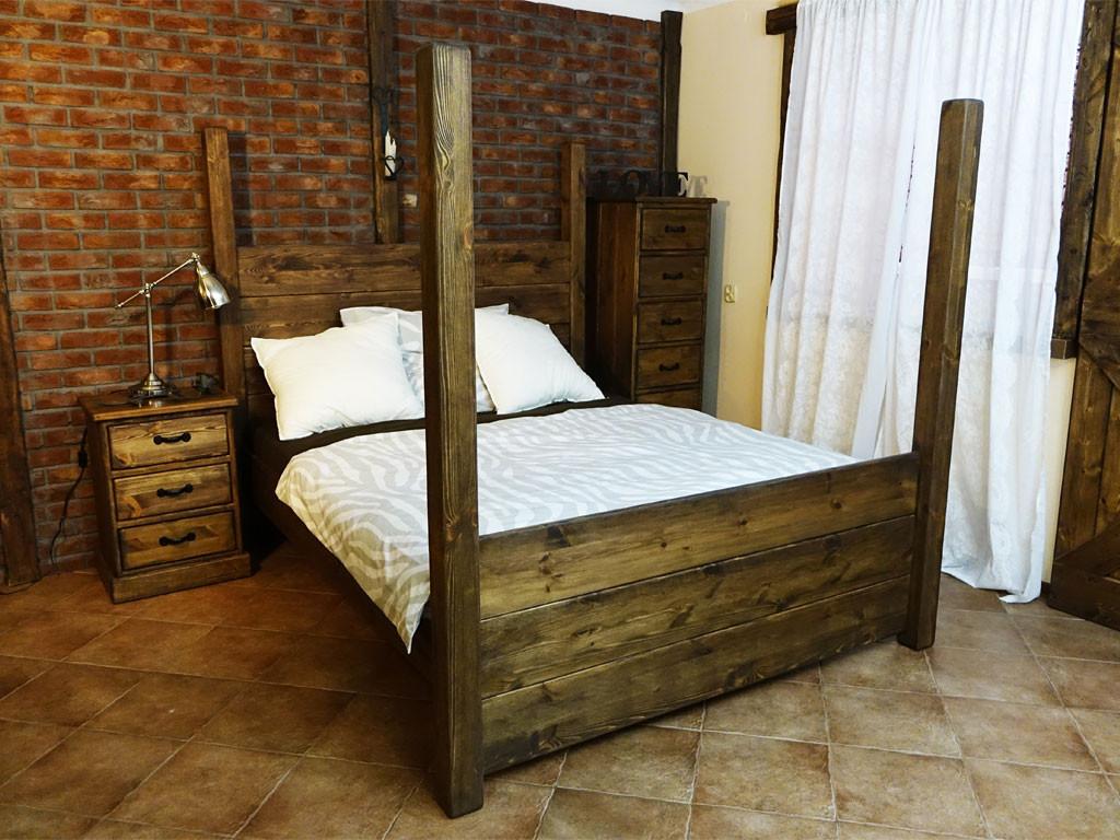 Łóżko Sosnowe Rustyk / Gniewko 160 - WYPRZEDAŻ