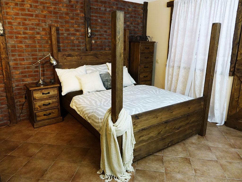 Łóżko Sosnowe Rustyk / Gniewko 140