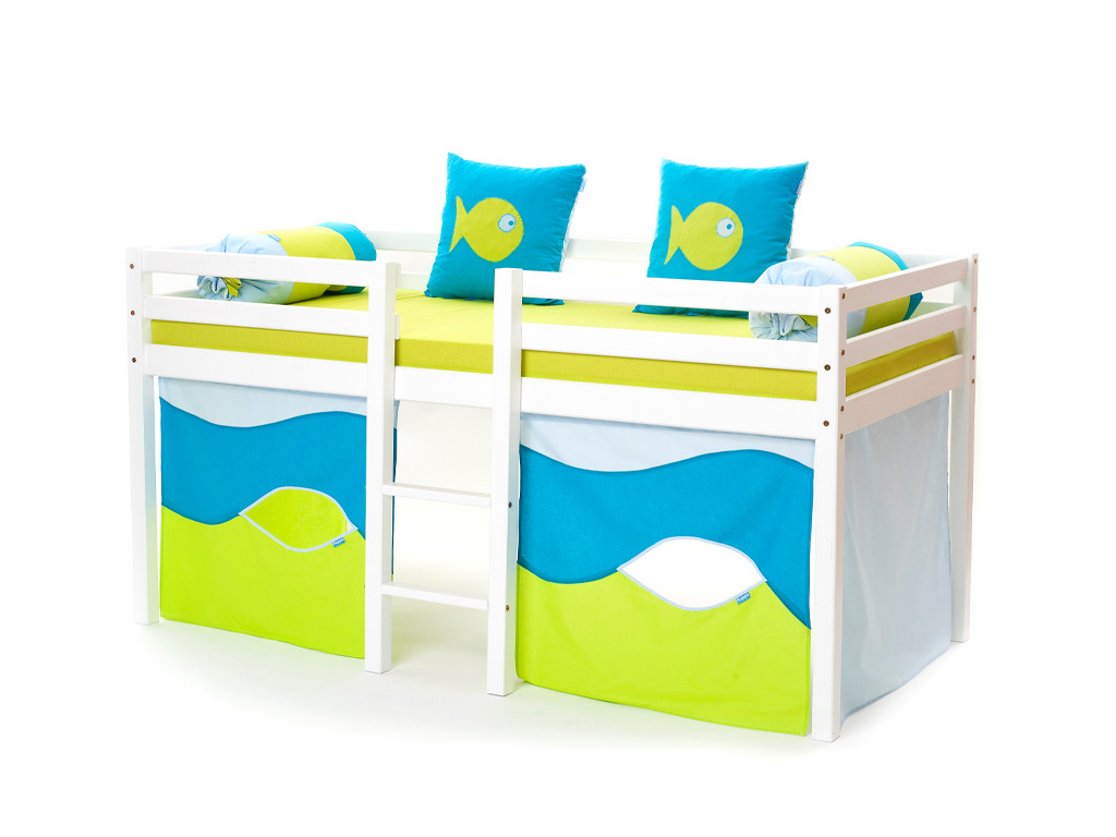 Kompletne łóżko sosnowe antresola Maja XXL 37 90x200cm