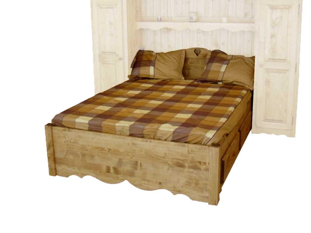 Łóżko z szufladami drewniane Mexicana 5 160x200