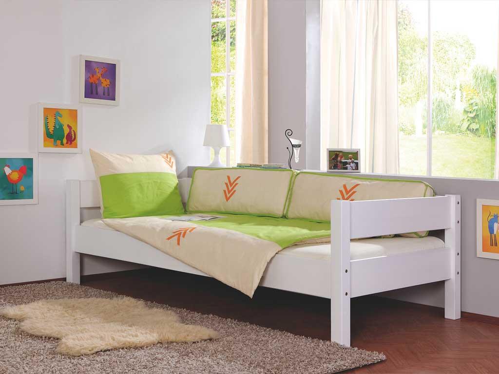 Łóżko bukowe parterowe Wendy 05 90x200