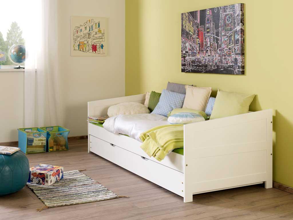 Łóżko bukowe parterowe Wendy 62 90x200