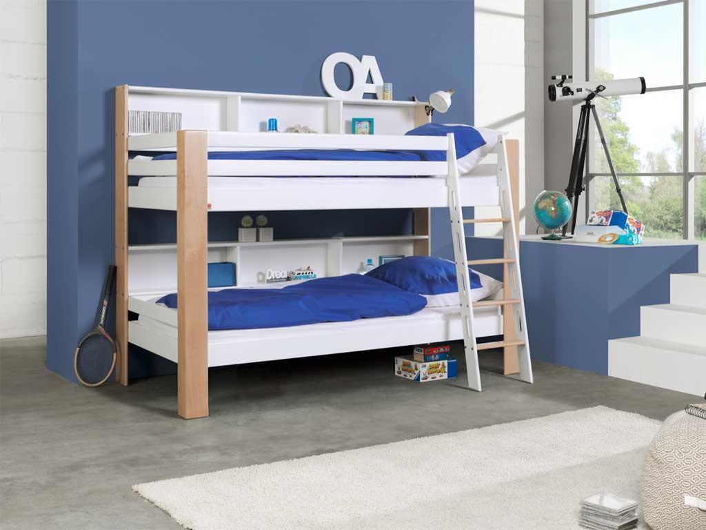 Łóżko bukowe piętrowe Wendy 18 90x200cm