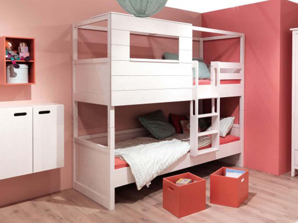 łóżko Sosnowe Piętrowe Z Daszkiem Lily 90x200