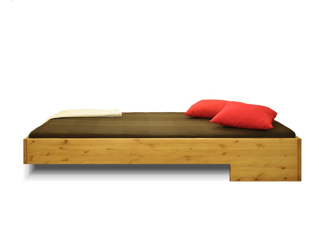 Nowoczesne Łóżko z drewna sosnowego Kinga 140