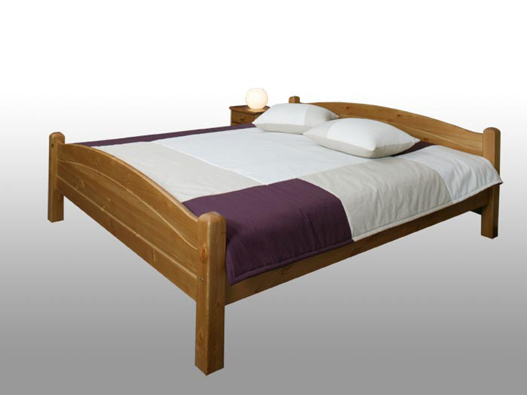 Łóżko sosnowe Modern 120x220