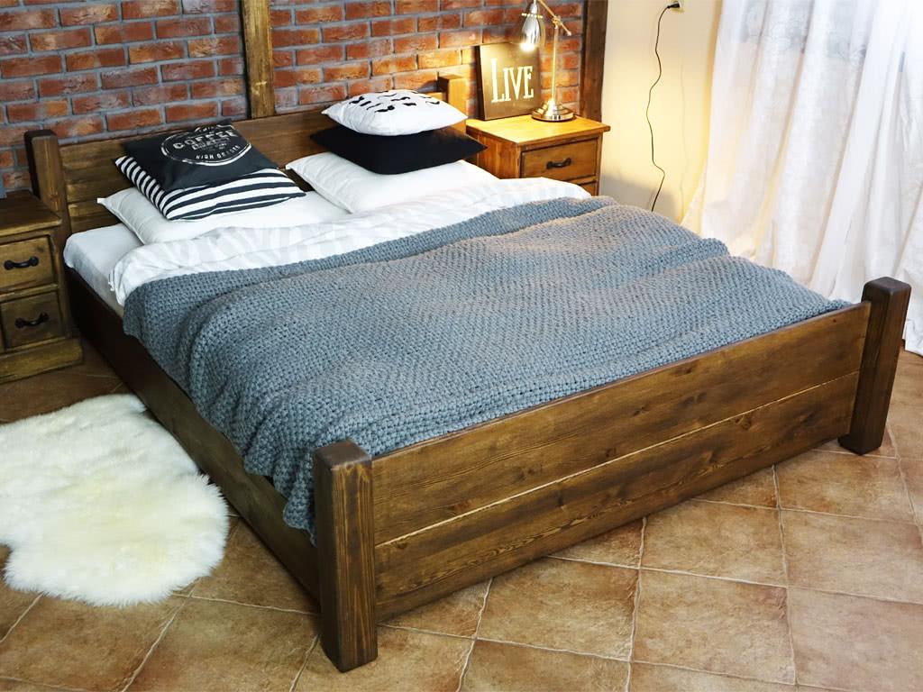 Łóżko Sosnowe Rustyk / Ostrowit 160