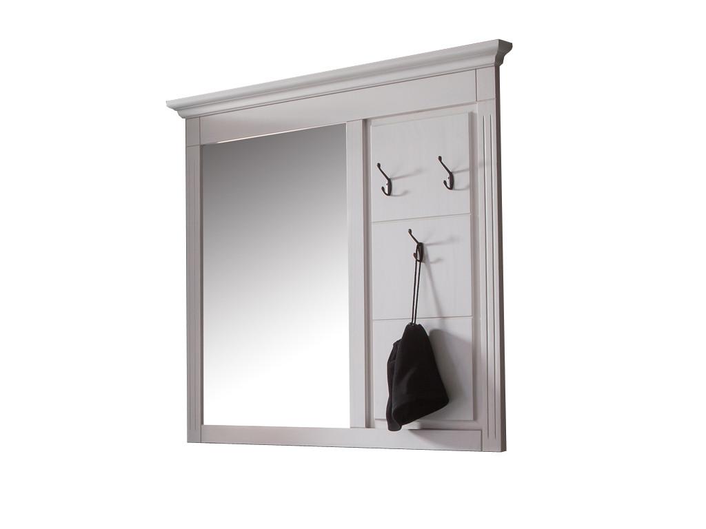 Białe lustro ścienne sosnowe Ida 2 - OSTATNIE SZTUKI