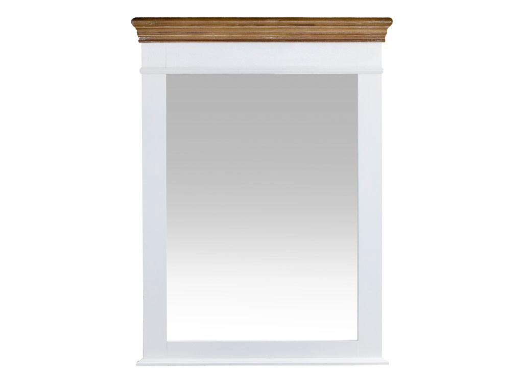 Lustro w białej, drewnianej ramie Louise Brown 1