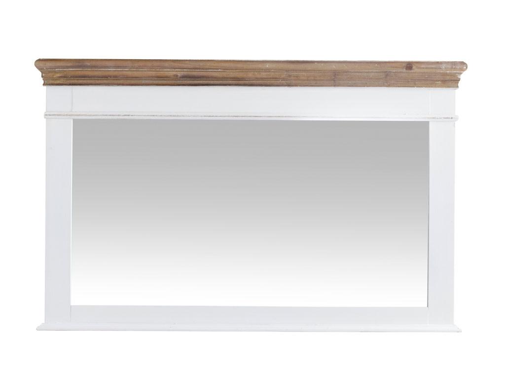 Lustro w białej, drewnianej ramie Louise Brown 2