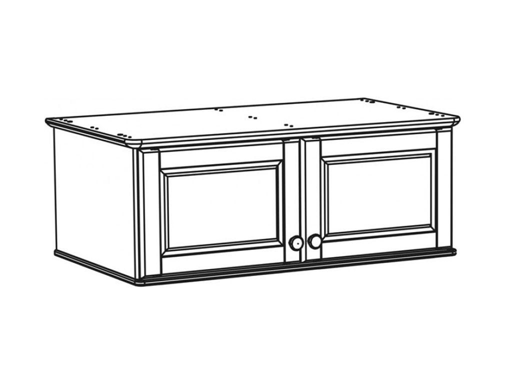 Nadstawka szafy sosnowa Modern 1