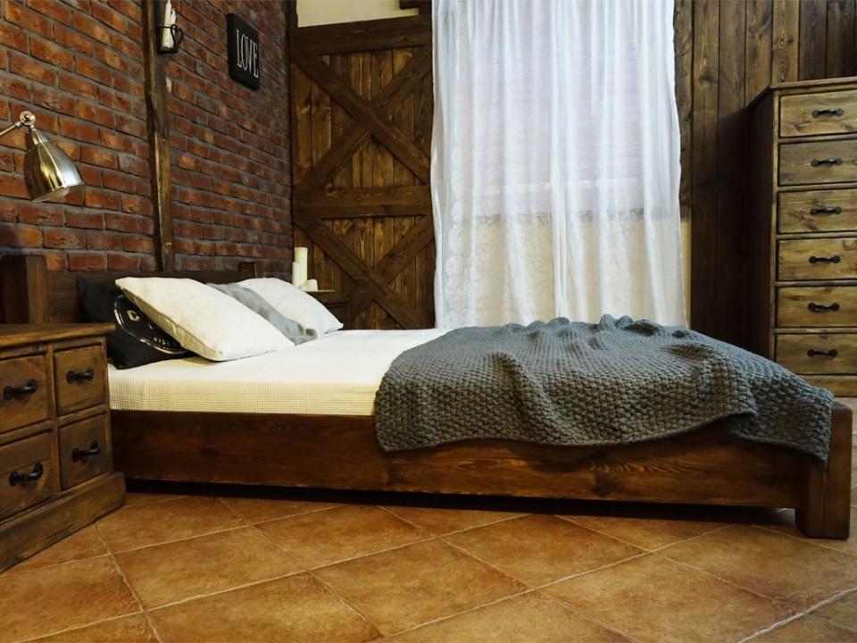 Łóżko Sosnowe Rustyk / Ostrowit II 120 - OSTATNIE SZTUKI