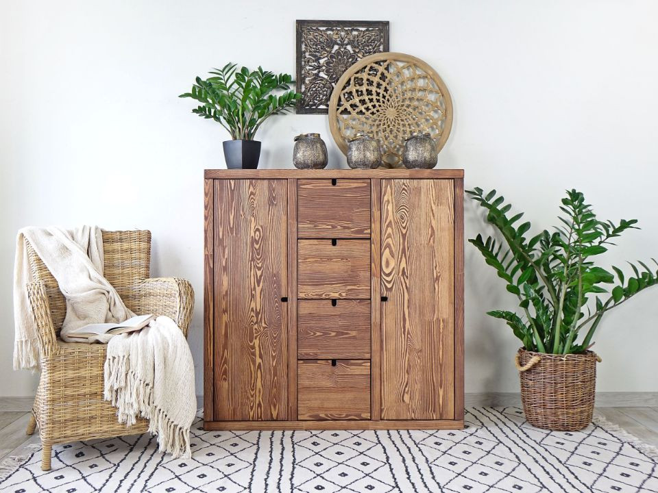 nowoczesna komoda drewniana