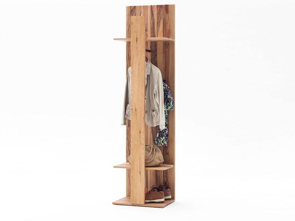 Panel garderobiany z drewna dębowego Solid