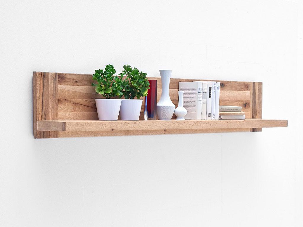 Półka wisząca z drewna dębowego Solid