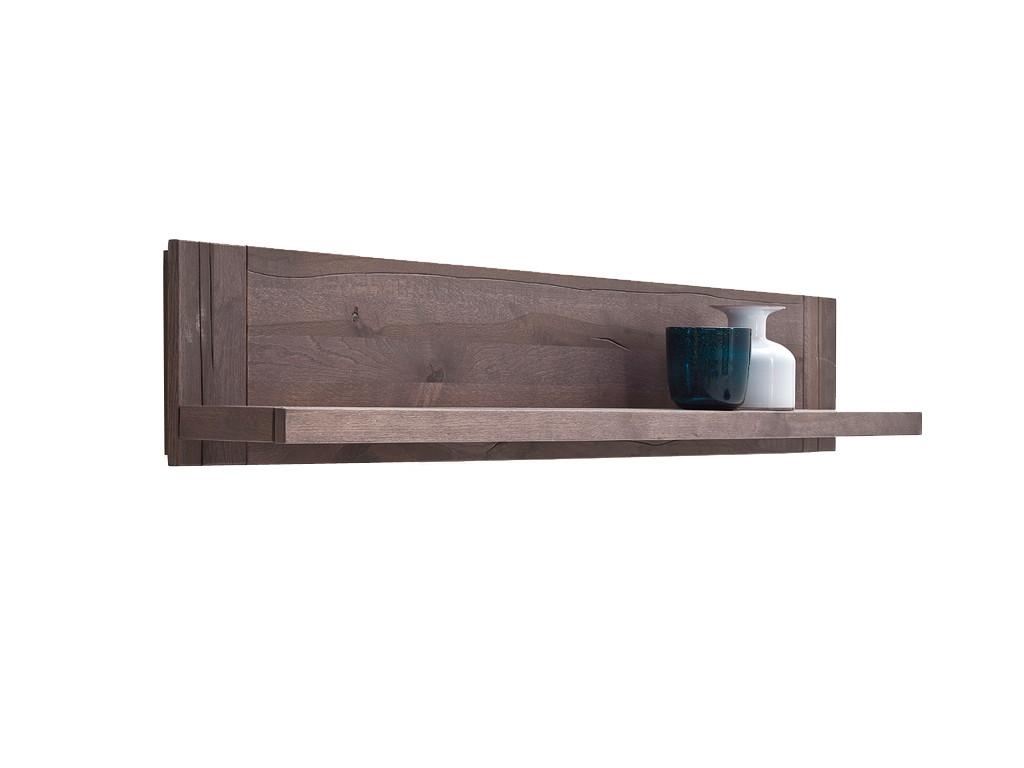 Półka wisząca z postarzanego drewna dębowego Massiv