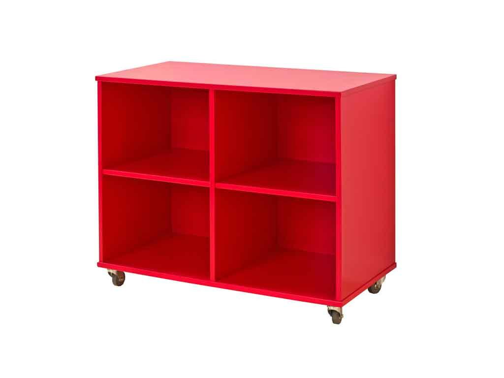 Regał na kółkach Maja MIX 88 - 90 Czerwony