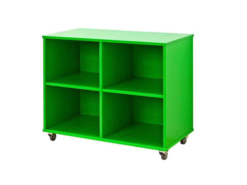 Regał na kółkach Maja MIX 88 - 90 Zielony