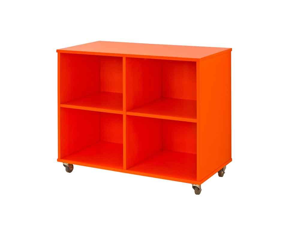 Regał na kółkach Maja MIX 88 - 90 Pomarańczowy