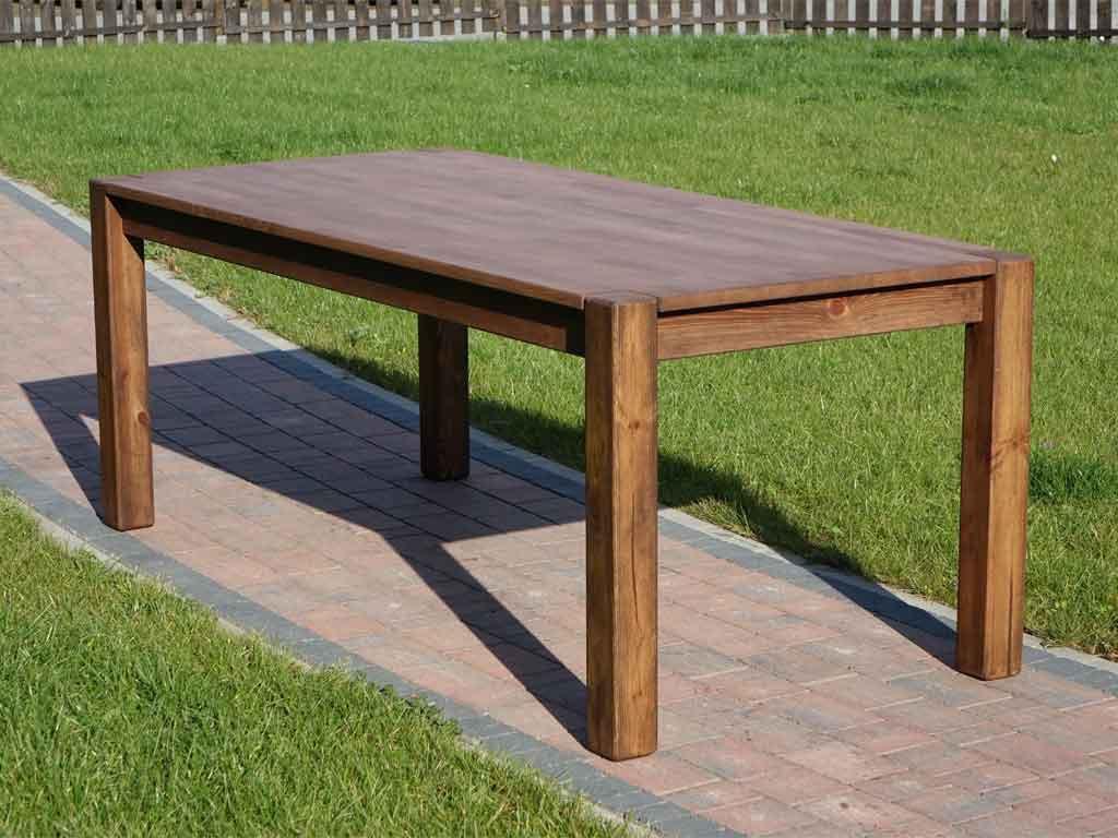 Stół bukowy woskowany Rustyk 1 200cm - wyprzedaż