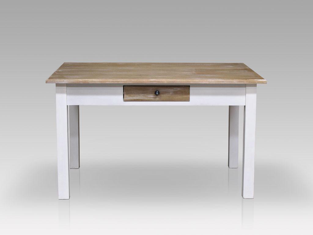 Stół Louise Brown 130x80 cm z szufladami