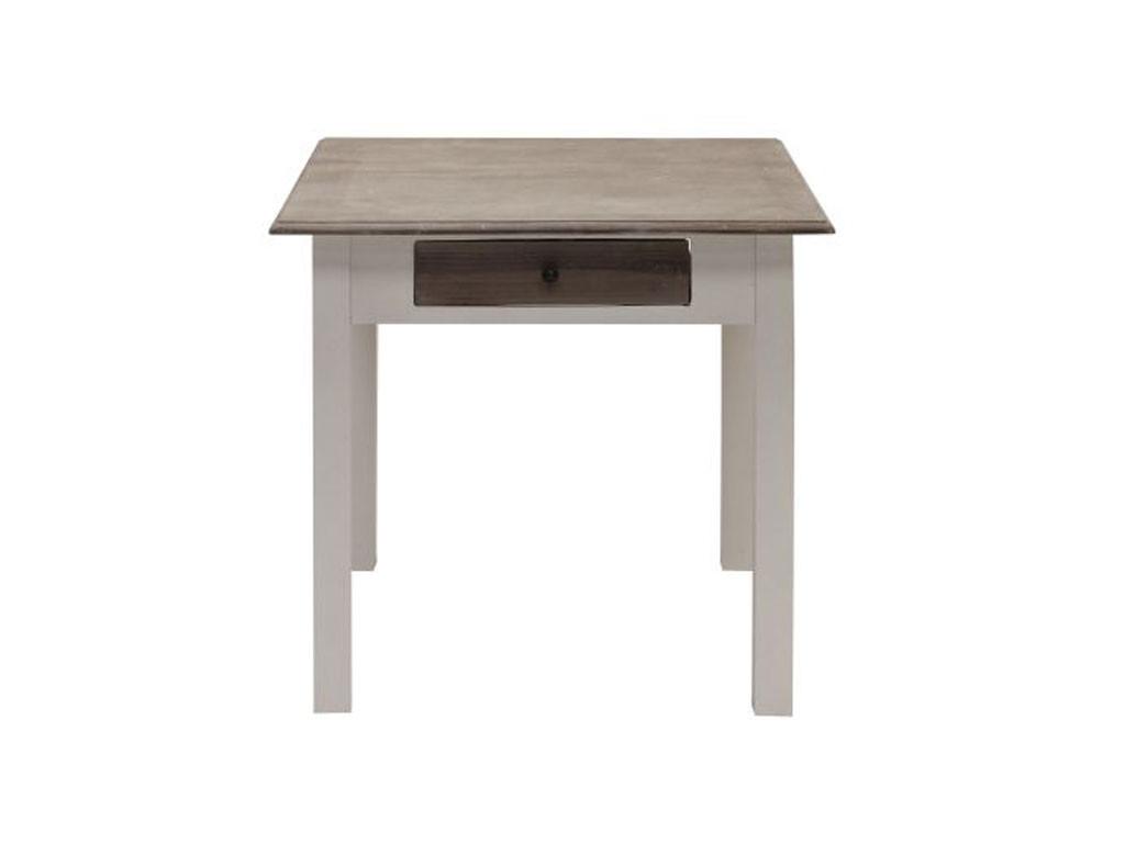 Stół Louise Gray 80x80 cm z szufladami