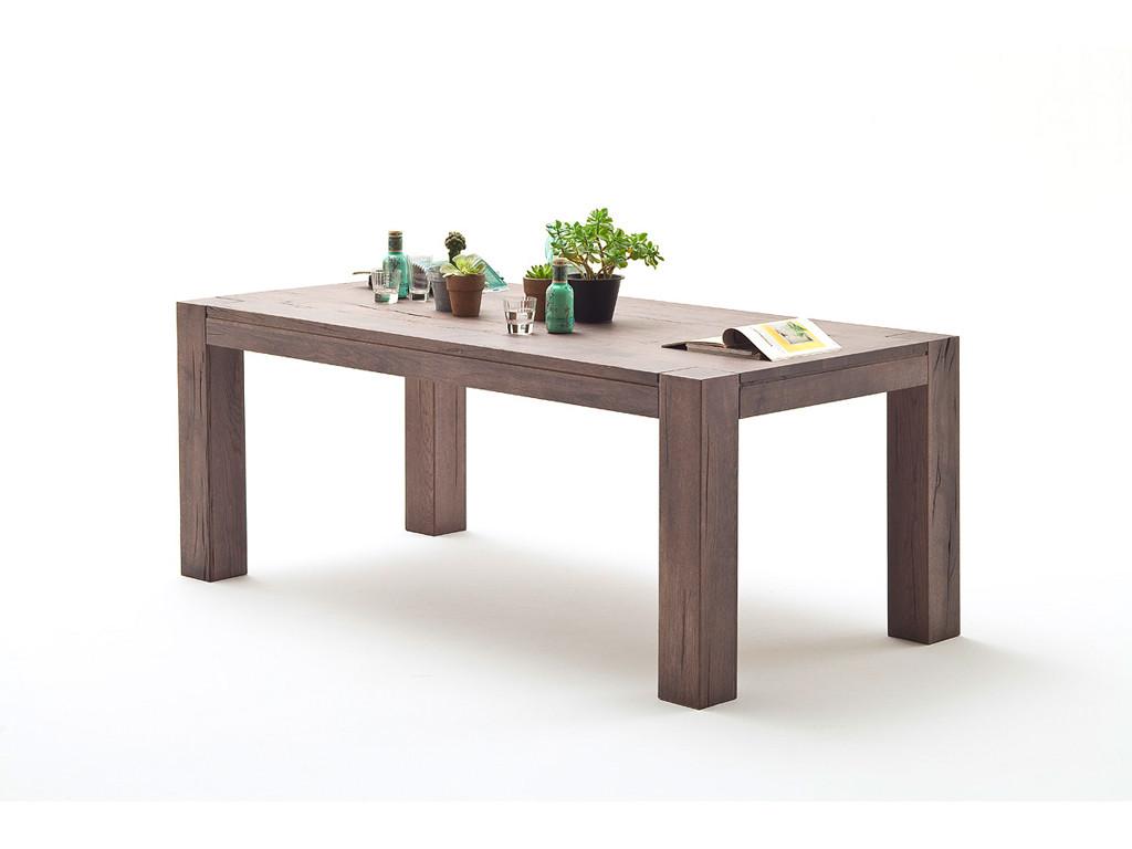 Stół z postarzanego drewna dębowego Massiv