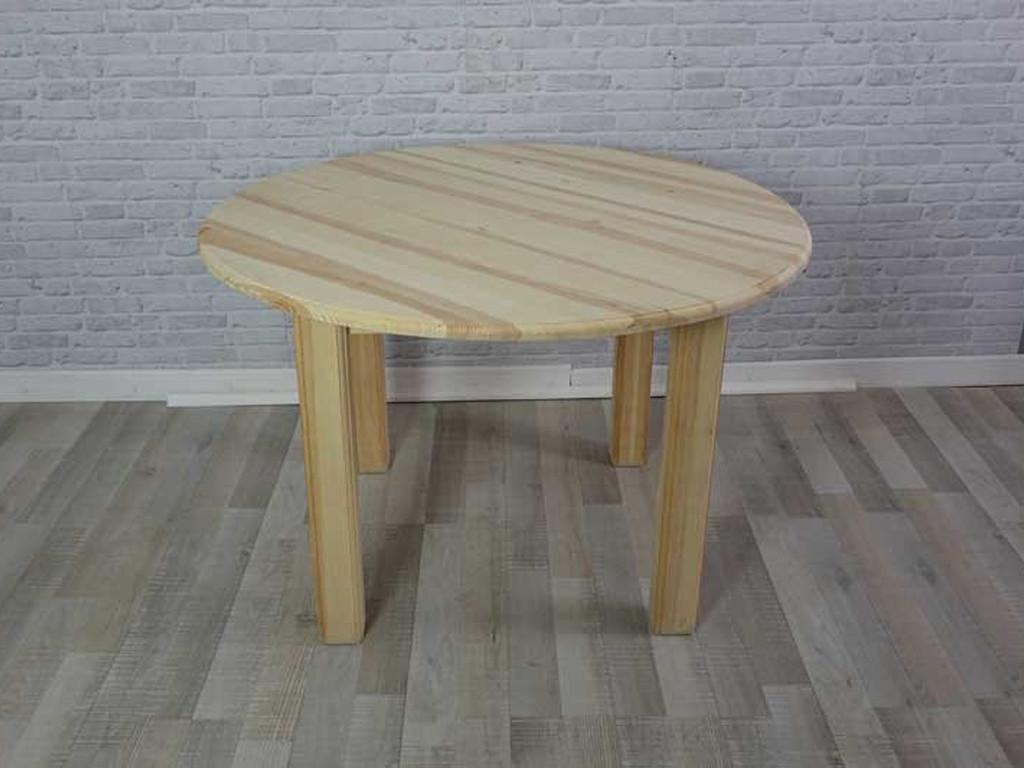Stół sosnowy okrągły SEM06 - WYPRZEDAŻ