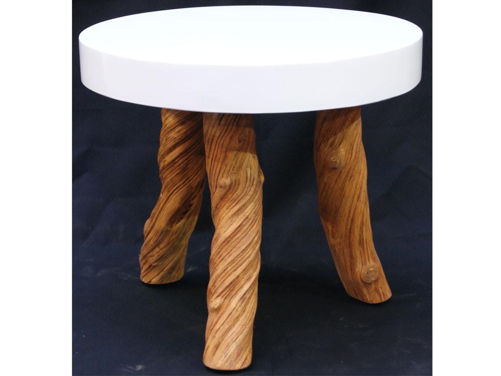 Niski stolik z nogami z drewna teakowego This & That 2