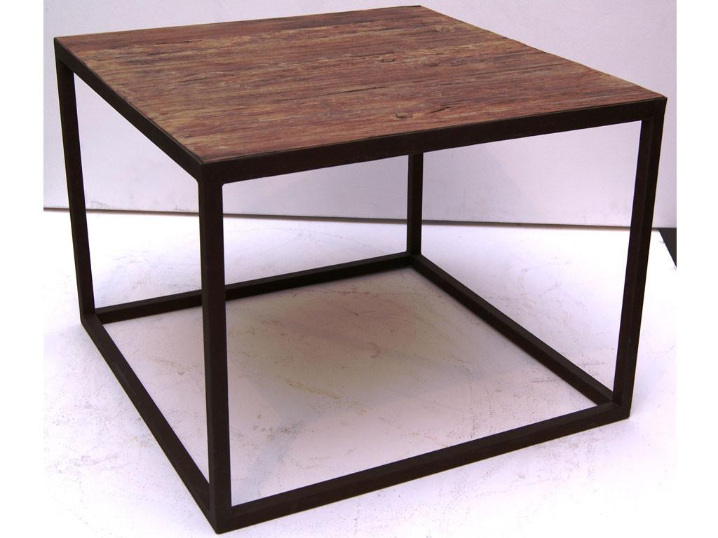 Kwadratowy stolik z drewna teakowego This & That 5