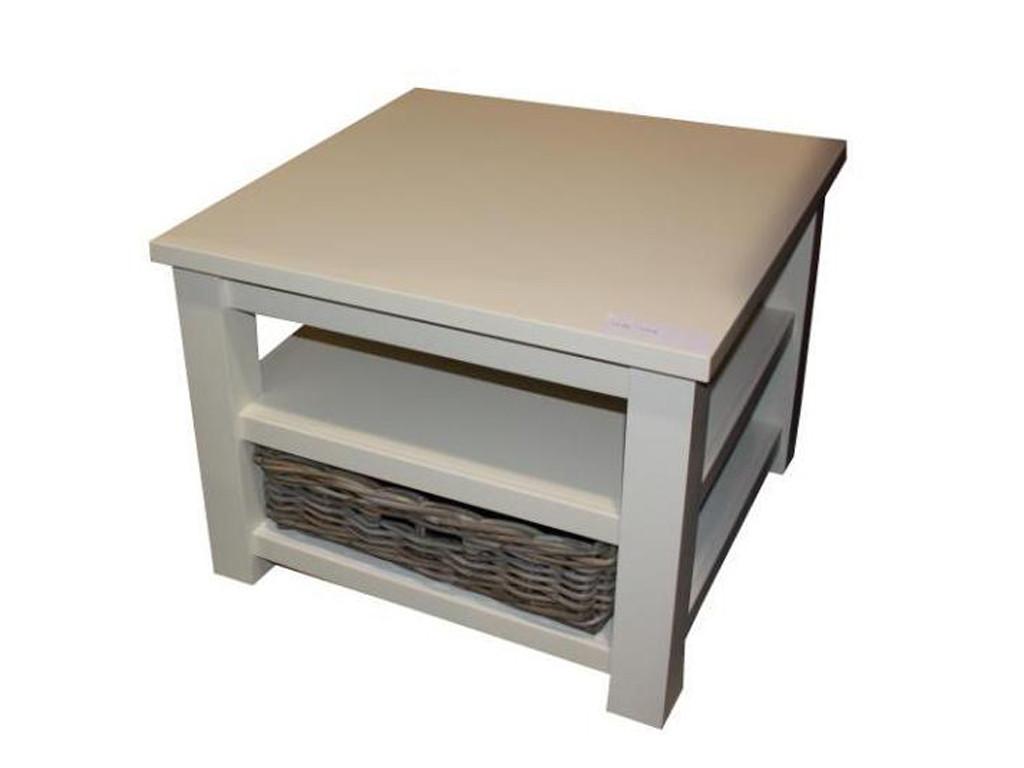 Biały stolik drewniany White Mango 2