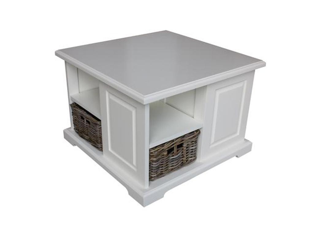 Biały stolik drewniany White Mango 4