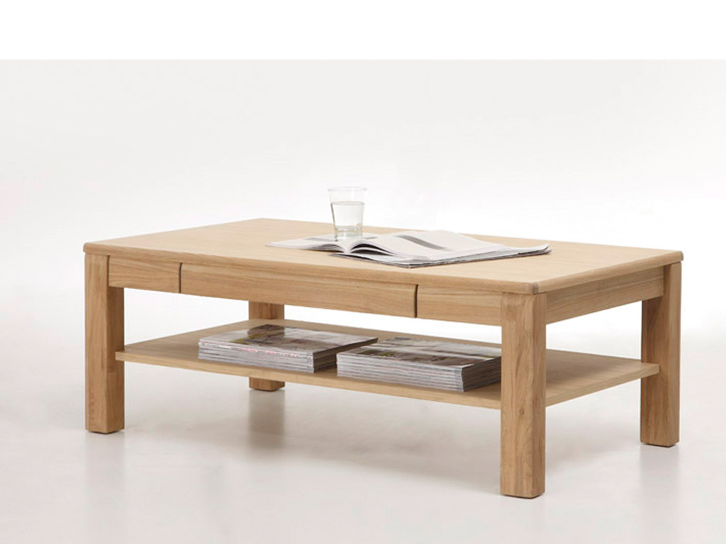 Kawowy stolik dębowy Zola 1