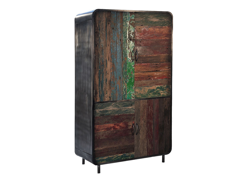 Szafa teakowa z drewna z recyklingu Old Teak