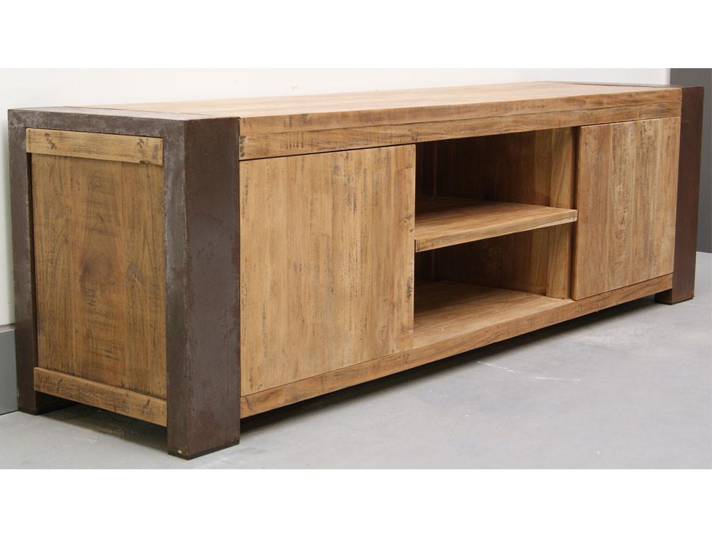 Szafka RTV z drewna z recyklingu Loft
