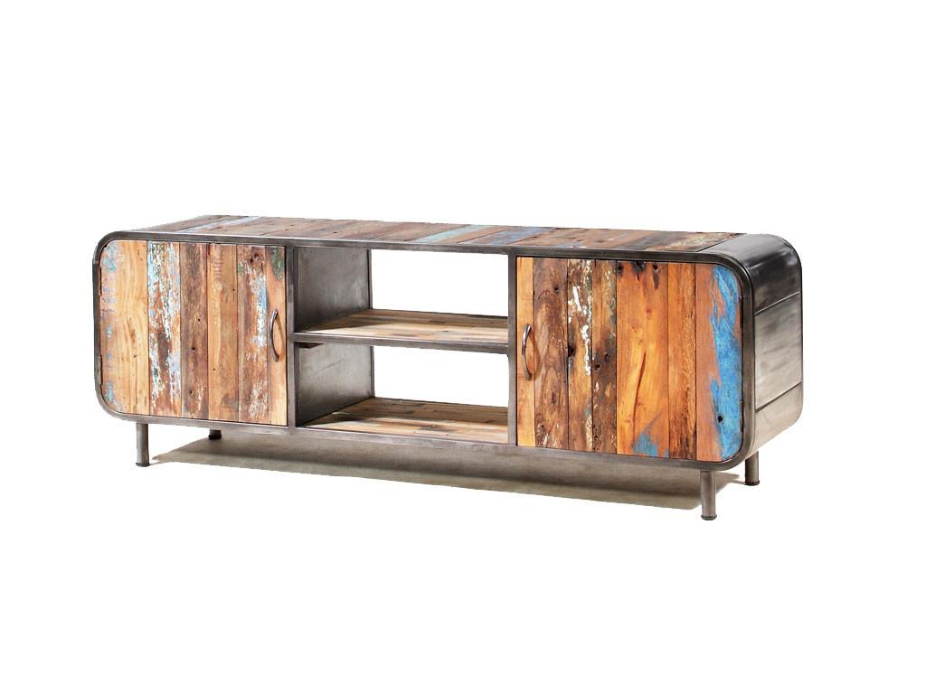 Teakowa szafka RTV z drewna z recyklingu Old Teak 1