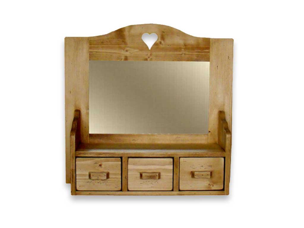 Drewniana szafka wisząca z lustrem Mexicana 2