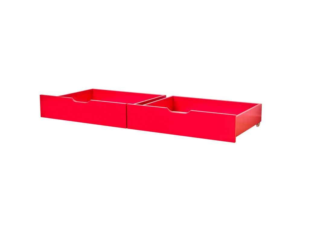 Szuflady Maja MIX 60 dla łóżek 70x160 Czerwone