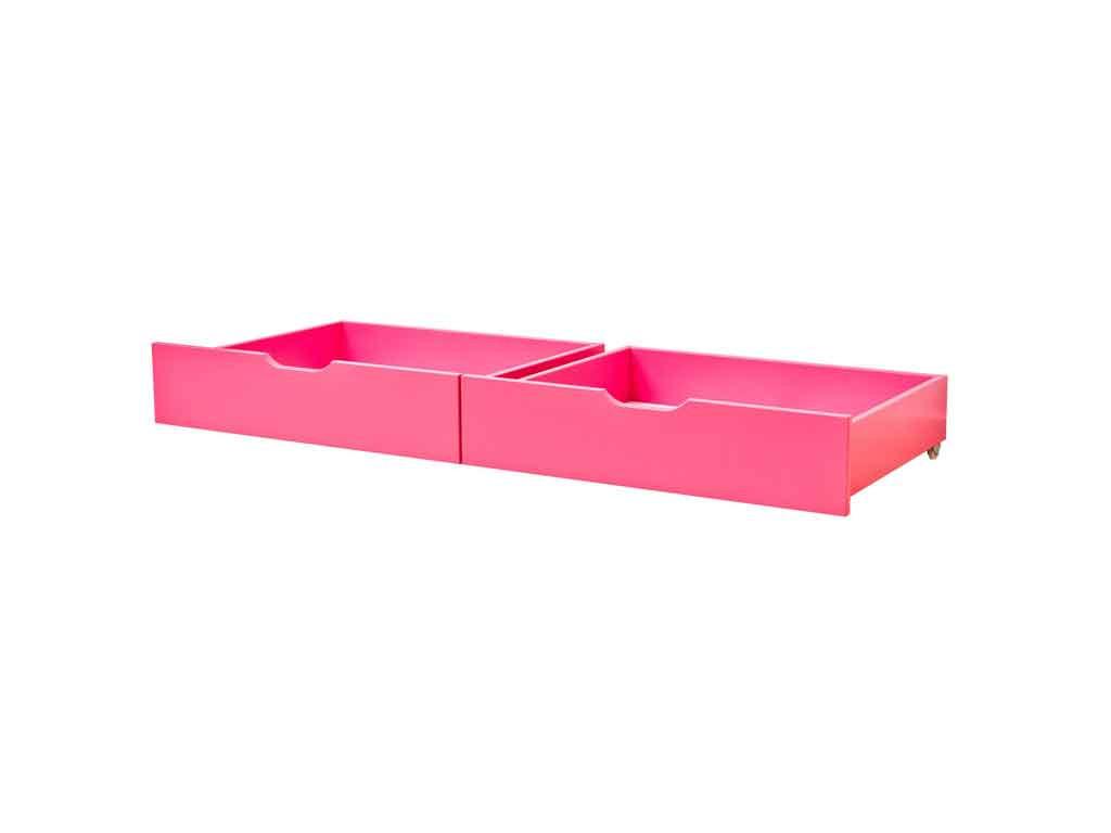 Szuflady Maja MIX 60 dla łóżek 90x200 i 70x190 Różowe