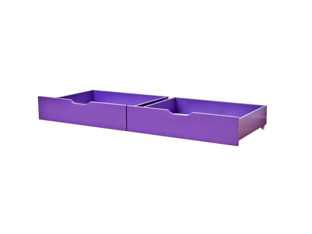 Szuflady Maja MIX 60 dla łóżek 90x200 i 70x190 Fioletowe