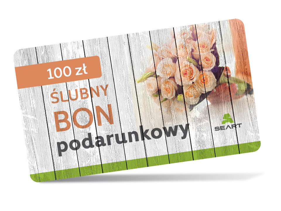 Ślubny kupon podarunkowy - 100 zł