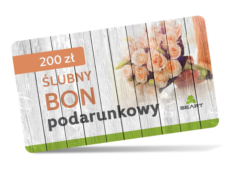 Ślubny kupon podarunkowy - 200 zł