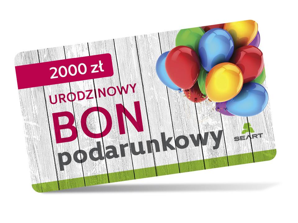 Urodzinowy kupon podarunkowy - 2000 zł