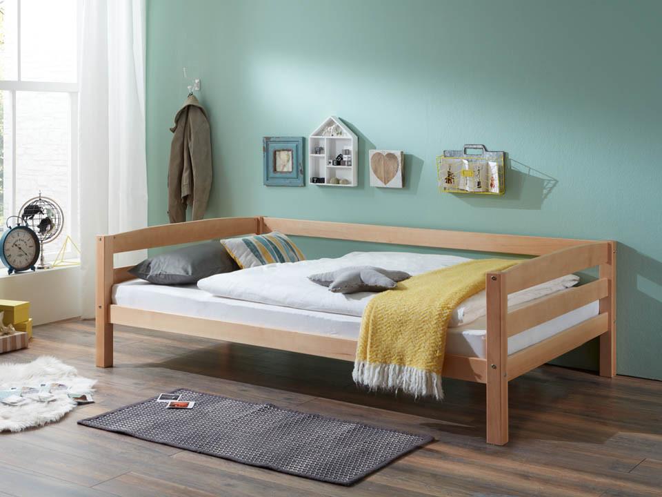 Łóżko bukowe parterowe Wendy 73 120x200